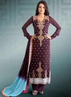 Popular Style Party Wear Embroidered Girls Fashion 2013-2014 | International Fashions