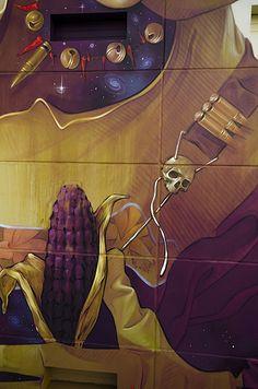 INTI hinterlässt ein mythologisches Mural im chilenischen Arica  Pachakuti hieß einer der Herrscher über das Reich der Inka. Pachakuti ist aber auch der Name des neuesten Murals, das der Street Artist INTI in de...