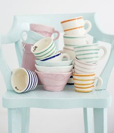 loving these ceramic stripes from http://www.agnetalivijn.com/