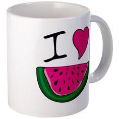 I Love Watermelon Mug on CafePress.com