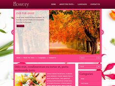 Flowery is a very elegant free WordPress theme with a stunish design and powerful back end addition. You can customize this theme according to the needs of your website fast and easily. What could you wish? Logotype psd file or contact form template built into the theme without any plugins? Or may be some custom layout for a particular page? Social Bar, Themes Free, Contact Form, Responsive Web Design, Premium Wordpress Themes, Template, Layout, Website, Elegant