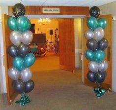 baT mitzvah centerpieces do it yourself | Balloon Columns|Arches|Room Decorations|Parties|Events