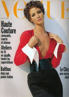 ☆ Christy Turlington | Photography by Brigitte Lacombe | For Vogue Magazine France | September 1990 ☆