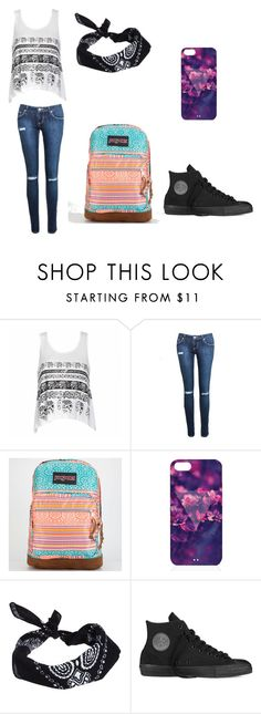 """""""Extra outfit"""" by cutiepiexoxo2002 ❤ liked on Polyvore featuring Ally Fashion, JanSport, ASOS, Converse, women's clothing, women, female, woman, misses and juniors"""