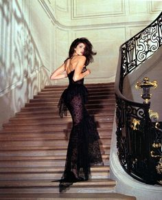 Ascending my castle stairs in Chanel
