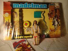 ¡¡LOS ORIGINALES!! MADELMAN 3ª JEFE INDIO CATALOGO CAJA CON ACESS. ORIGINALES MADEL S.A 80.EXCELENTE