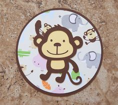 Monkey invitations for boys birthday or baby shower- green and blue 20 pack on Etsy, $45.00