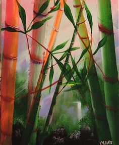 Original painting of Bamboo. Acrylic on Canvas