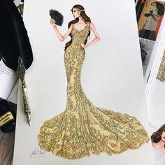 5,382 個讚,31 則留言 - Instagram 上的 Eris Tran(@eris_tran):「 I'm !!! I'm fabulous and you know who I am. Sketch wedding dress for my customer #sketch… 」
