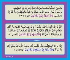 """"""" الله يشهد"""" : ٣ مرات فى القرآن فى التوبة والحشر والمنافقون وكلها جاءت فى المنافقين"""