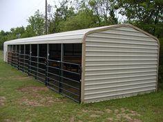 Loafing Shed - Frame Only - 30 x 12 x 8 - Barn or Loafing Shed - Building Kits Goat Shelter, Horse Shelter, Barn Stalls, Horse Stalls, Backyard Chicken Coops, Chickens Backyard, Small Horse Barns, Shed Frame, Goat House