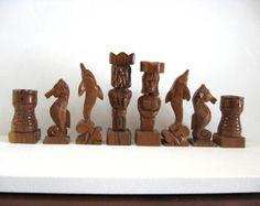 Ajedrez Cascanueces ajedrez situado en etsy por JimArnoldsChessSets