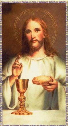 "Since Christ Himself said in reference to the bread: ""This is My Body,"" who will dare remain hesitant? And since with equal clarity He asserted: ""This is My Blood,"" who will dare entertain any doubt. Catholic Prayers, Catholic Art, Catholic Daily, Roman Catholic, Heart Of Jesus, Jesus Is Lord, Religious Images, Religious Art, Jesus Christ Images"