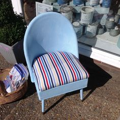 Gorgeous Lloyd loom Style Chair in Autentico chalk paint Iceland #Unbranded…