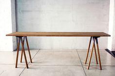 ホースレッグテーブル|無垢材とアイアンのセミオーダー家具|CODESTYLE