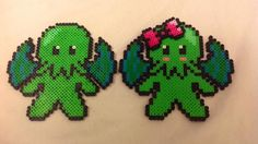 Cthulhu Perler Pick One or Both by YattaCreations on Etsy