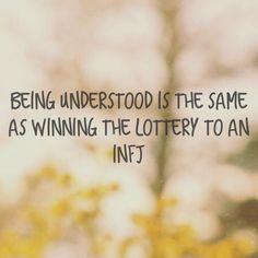 INFJ - being understood is like winning the lottery. Infj Mbti, Isfj, Infj Traits, Rarest Personality Type, Infj Personality, Personality Characteristics, Myers Briggs Infj, Infj Type, Thats The Way