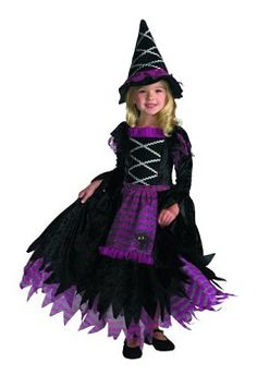 Fairytale Witch Toddler Costume - Your pint sized witch will bring charming evil wherever she goes on Halloween night.