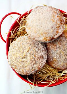 Apple 'Donut' Cakes with Honey & Brown Butter