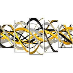 DesignArt HelixExpression Abstract 5 Piece Graphic Art on Wrapped Canvas Set & Reviews   AllModern