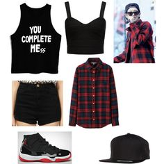Couple outfit with Chanyeol (EXO) by kpop160 on Polyvore featuring polyvore fashion style Uniqlo Forever New Flexfit