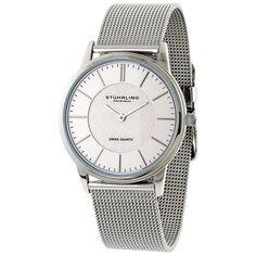 Stuhrling Original Unisex Newberry Ultra Slim Swiss Quartz Watch | Overstock.com Shopping - The Best Deals on Stuhrling Original Men's Watches