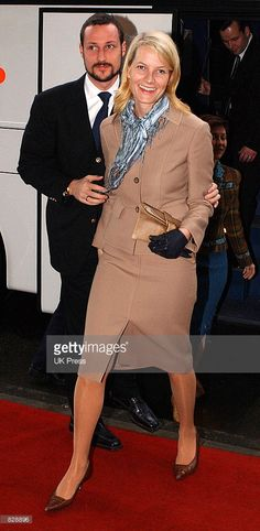 Princess Mette-Marit (L) and Prince Haakon of Norway attend a luncheon concert at Concertgebouw a day before the wedding of Dutch Crown Prince Willem-Alexander and Maxima Zorreguieta February 1, 2002 in Amsterdam, The Netherlands.