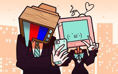 TV Heads by emily-ree