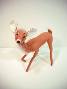 Vintage Annalee Christmas Deer 1993 by wallstantiques on Etsy, $15.00