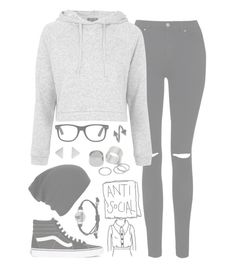 """""""//NeverBe//"""" by alexdacko ❤ liked on Polyvore featuring Topshop, Vans, Pieces, women's clothing, women, female, woman, misses and juniors"""