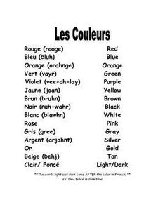 French colors vocabulary by Madame Fortner French Language Lessons, French Language Learning, Learn A New Language, French Lessons, Spanish Lessons, Spanish Class, Spanish Language, Learning Spanish, Funny Spanish