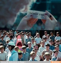 Surprised Patrick in Hunger Games