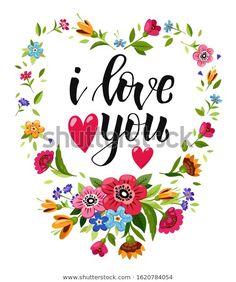 Стоковая векторная графика «Happy Valentines Day Card Calligraphy Love» (без лицензионных платежей), 1620784054
