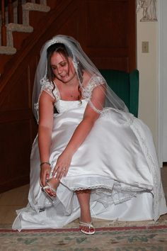 This is Megan my Youngest getting ready to get Married at our Pastors House. She got Married Aug 2011