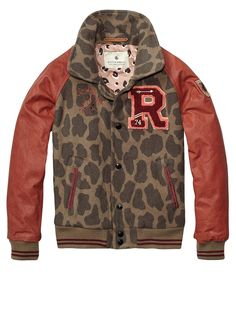 """For the college ready Little.... """"letterman"""" jacket Scotch & Soda kids"""