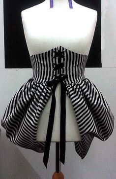 Hey, I found this really awesome Etsy listing at https://www.etsy.com/listing/192517345/bustle-skirt-black-and-white-stripe