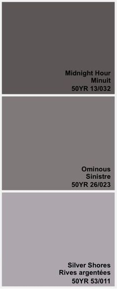 warm greys - CIL paints. I like these for master bedroom paint color