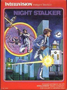 Night Stalker for Intellivision Vintage Video Games, Classic Video Games, Retro Video Games, Retro Games, Vintage Games, Games Box, Old Games, Wii, History Of Video Games