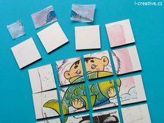 DIY winter puzzle, decoupage. Zimní puzzle - technika decoupage. Decoupage, Puzzle, Winter, Creative, Diy, Winter Time, Puzzles, Bricolage, Do It Yourself
