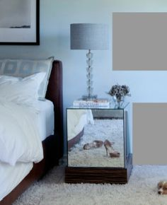 Inspiring Eclectic Bedroom Furniture Set Of Bed And Side Table Employed For Exclusive Interior In Neutral Tones Style