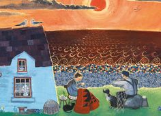 'The Best Time Of The Day' By Painter Valeriane Leblond. Blank Art Cards By Green Pebble. www.greenpebble.co.uk