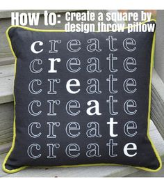 Square By Design™ Pillow with Contrasting Piping   Throw Pillow DIY   Simple DIY Sewing Project