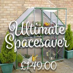 http://www.norfolk-greenhouses.co.uk/ultimate-spacesaver-greenhouse-green-2x6ft/