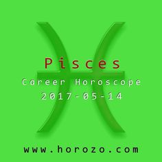 Pisces Career horoscope for 2017-05-14: Go with your gut on this one: you can figure out the details later. Being analytical is fine, but don't let your desire to know every detail keep you from signing on the dotted line..pisces