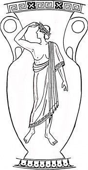 Risultati immagini per greek vase coloring page Art Nouveau, Greece Art, Greek Flag, Flag Coloring Pages, Greek Pottery, Vase Crafts, Wooden Vase, Illustration, Black Vase