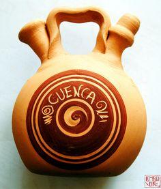 Botijo de cerámica del alfar Parra (Priego, Cuenca)