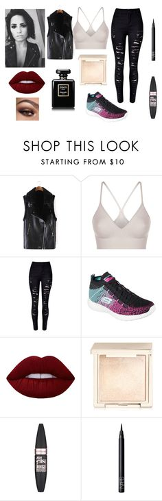 """""""Demi Lovato"""" by stefthedonutqueen ❤ liked on Polyvore featuring SPANX, WithChic, Skechers, Lime Crime, Jouer, Maybelline and NARS Cosmetics"""