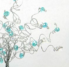 Items similar to Robins Egg Blue Aqua Blue Wedding Cake Topper Wire Tree Sculpture Turquoise Pool Blue on Etsy Blue Grey Weddings, Blue Wedding, Quince Decorations, Wedding Decorations, Bridal Shower Breakfast At Tiffanys, Wedding Cake Toppers, Wedding Cakes, Wedding Themes, Wedding Ideas