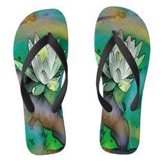 """""""Lily"""" Design Flip Flops"""
