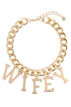 WIFEY Trendy Chain Linked Necklace for Women